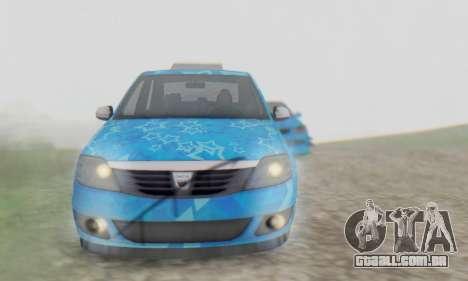 Dacia Logan Blue Star para GTA San Andreas vista superior