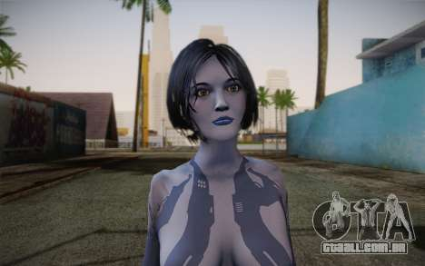 Cortana from Halo 4 para GTA San Andreas terceira tela