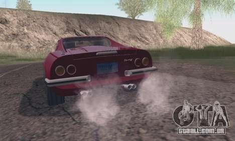 Ferrari Dino 246 GTS Coupe para GTA San Andreas vista traseira