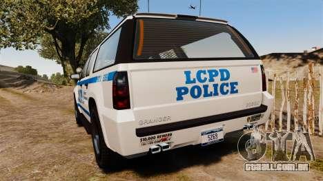 GTA V Declasse Granger LCPD para GTA 4 traseira esquerda vista