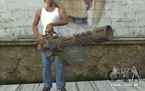 A metralhadora giratória, com uma loja para GTA San Andreas terceira tela