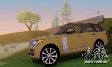 Range Rover Vogue 2014 V1.0 SA Plate para GTA San Andreas esquerda vista
