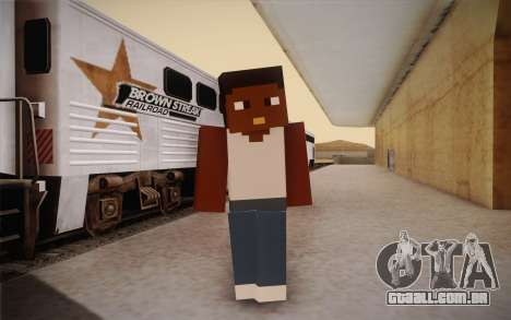 Cj Minecraft para GTA San Andreas