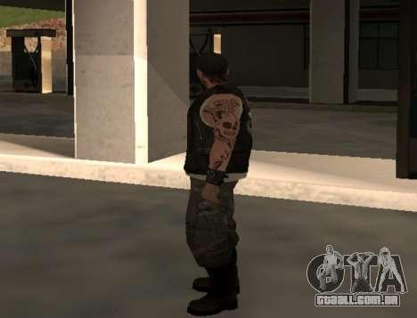 Motociclista do clube Estradas Anjos para GTA San Andreas segunda tela