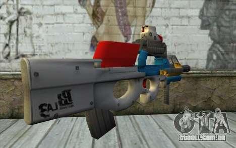 P90 MC Latin 3 from Point Blank para GTA San Andreas segunda tela