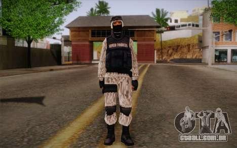 SWAT Snow Camo para GTA San Andreas