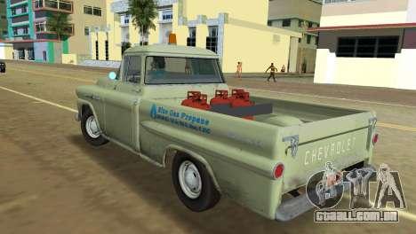 Chevrolet Apache Fleetside 1958 para GTA Vice City vista traseira esquerda