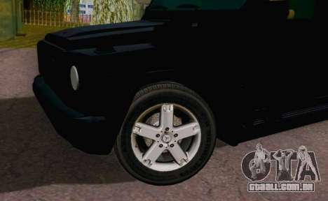 Mercedes-Benz G500 Limousine para GTA San Andreas vista direita