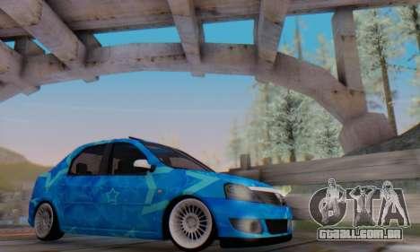 Dacia Logan Blue Star para GTA San Andreas interior