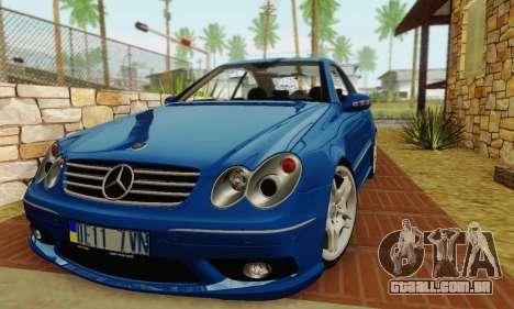 Mercedes-Benz CLK55 AMG 2003 para GTA San Andreas traseira esquerda vista