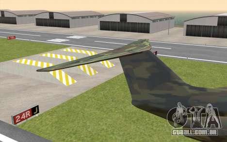 Camouflage Shamal para GTA San Andreas traseira esquerda vista