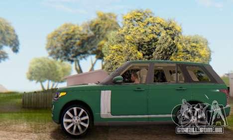 Range Rover Vogue 2014 V1.0 UK Plate para GTA San Andreas vista superior