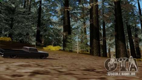 A densa floresta v2 para GTA San Andreas quinto tela