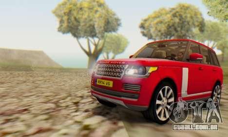 Range Rover Vogue 2014 V1.0 UK Plate para GTA San Andreas traseira esquerda vista