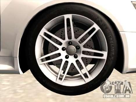 Audi RS6 para vista lateral GTA San Andreas