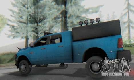 Dodge Ram 3500 Super Reforzada para GTA San Andreas vista traseira