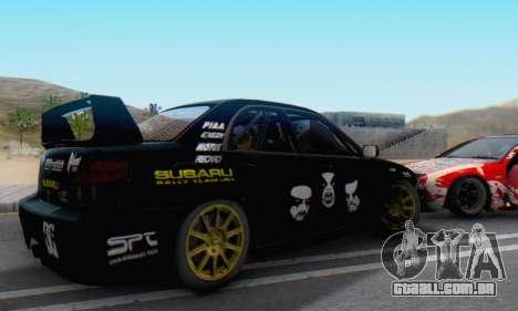 Subaru Impreza WRC STI Black Metal Rally para GTA San Andreas esquerda vista