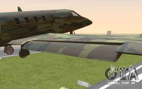 Camouflage Shamal para GTA San Andreas vista direita
