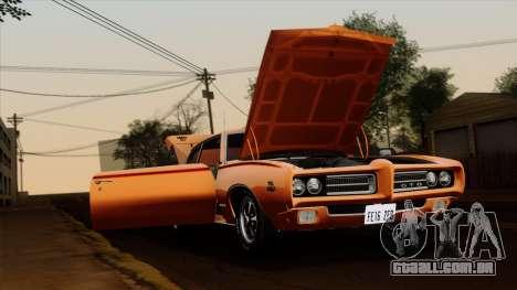 Pontiac GTO The Judge Hardtop Coupe 1969 para GTA San Andreas traseira esquerda vista
