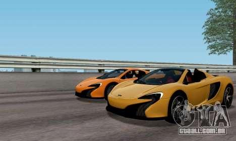 McLaren 650S Spyder 2014 para GTA San Andreas vista traseira