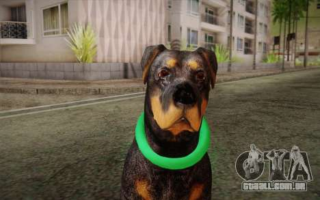 Rottweiler from GTA V para GTA San Andreas terceira tela