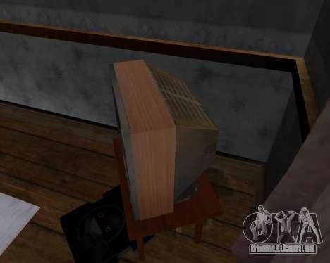 Tv em cores de alfa-TC- para GTA San Andreas quinto tela
