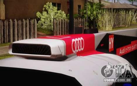 Audi R18 E-tron Quattro 2014 para GTA San Andreas vista traseira