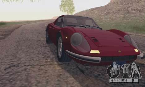 Ferrari Dino 246 GTS Coupe para GTA San Andreas vista direita