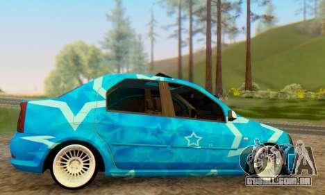 Dacia Logan Blue Star para GTA San Andreas vista direita