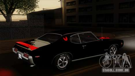 Pontiac GTO The Judge Hardtop Coupe 1969 para o motor de GTA San Andreas