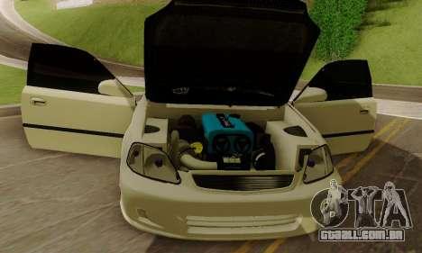 Honda Civic ek Coupe Hellaflush para GTA San Andreas vista traseira