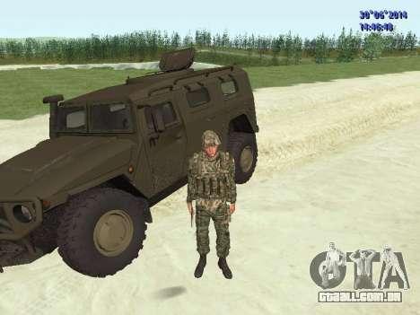 O lutador do exército russo para GTA San Andreas nono tela