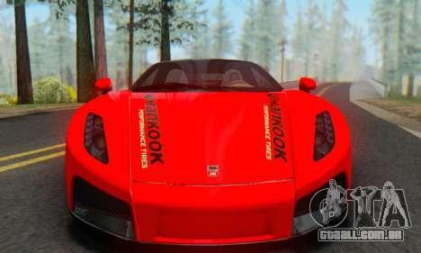 GTA Spano 2014 HQLM para GTA San Andreas traseira esquerda vista