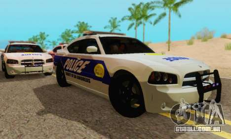 Pursuit Edition Police Dodge Charger SRT8 para GTA San Andreas traseira esquerda vista