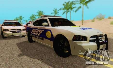 Pursuit Edition Police Dodge Charger SRT8 para GTA San Andreas traseira esquerda vista
