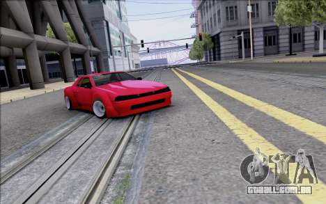 Elegy Rocket Bunny para GTA San Andreas vista superior