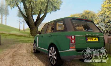 Range Rover Vogue 2014 V1.0 UK Plate para GTA San Andreas vista inferior