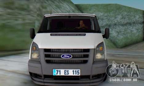 Ford Transit Pikap para GTA San Andreas esquerda vista