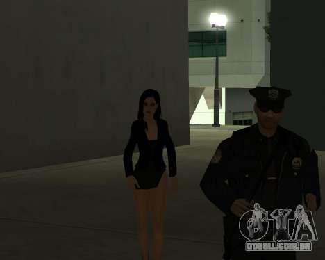 Black Dressed Girl para GTA San Andreas sétima tela