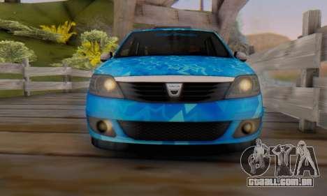 Dacia Logan Blue Star para GTA San Andreas vista inferior
