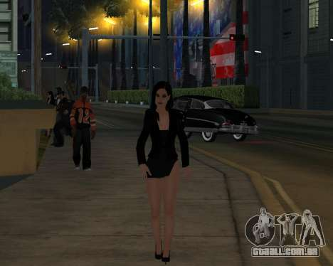Black Dressed Girl para GTA San Andreas quinto tela