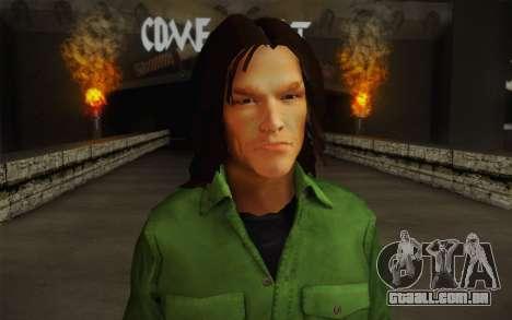 Sam Winchester из Sobrenatural para GTA San Andreas terceira tela