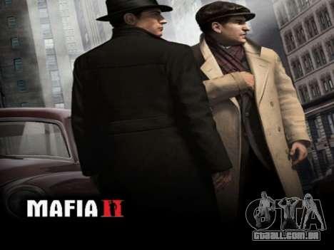 Tela de inicialização do Mafia II para GTA San Andreas por diante tela