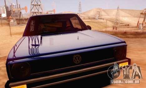 Volkswagen Golf Mk I Punk para GTA San Andreas vista interior