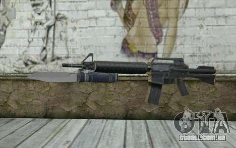 M4A1 com uma baioneta para GTA San Andreas