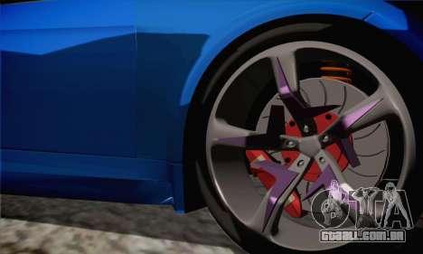 BMW M3 E92 SHDru Tuning para GTA San Andreas traseira esquerda vista