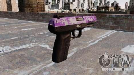 Arma FN Cinco sete Roxo Camo para GTA 4 segundo screenshot