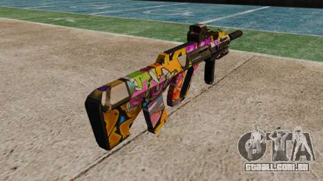 Автомат Steyr AUG-A3 Óptica Graffitti para GTA 4 segundo screenshot