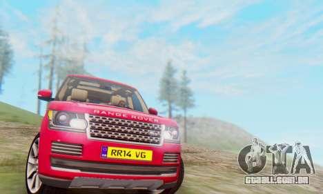 Range Rover Vogue 2014 V1.0 UK Plate para GTA San Andreas esquerda vista