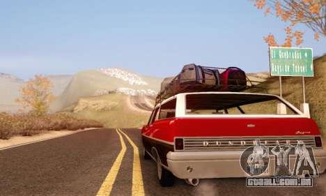 Dundreary Regina V1.0 para GTA San Andreas vista traseira
